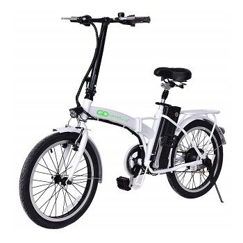 Goplus 20'' 250W Folding Electric Bike Sports Mountain Bicycle 36V Lithium Battery