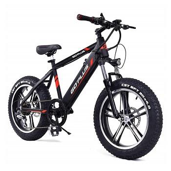 Goplus 20'' Electric Mountain Bike Bicycle E-bike Fat Tire Snow Beach Bike