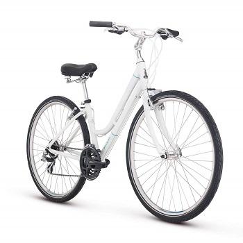 Raleigh Bikes Women's Detour 2 Step Through Hybrid Bike